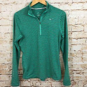 Nike element 1/2 zip running shirt top green